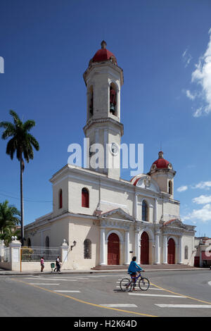 Catedral de la Purisima Concepcion at Parque Jose Marti, cathedral, historic city centre, Cienfuegos, Cienfuegos - Stock Photo