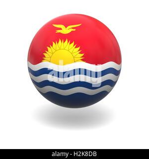 Kiribatian flag - Stock Photo