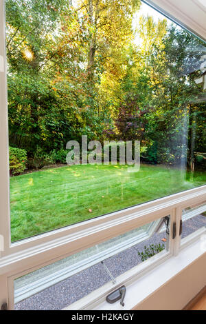 Windows open to fall breezes - Stock Photo