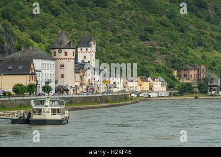 St Goarshausen am Rhein, Germany - Stock Photo