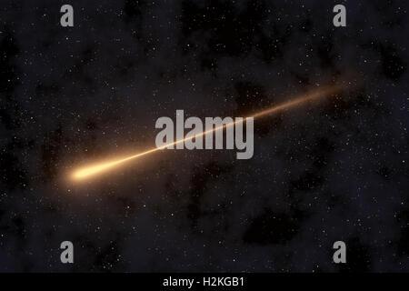 Shooting Star, Meteorite in Space - Stock Photo