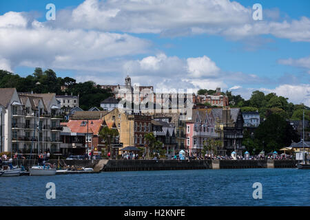 The Britannia Royal Naval College overlooking the port of Dartmouth, Devon, UK - Stock Photo