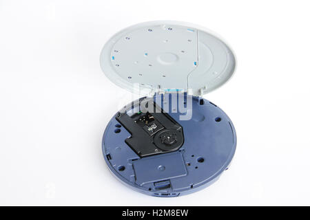 CD player for compact discs isolated on white - Stock Photo