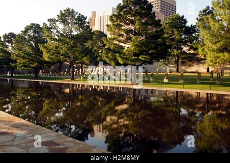 Oklahoma City Bombing Memorial - Stock Photo