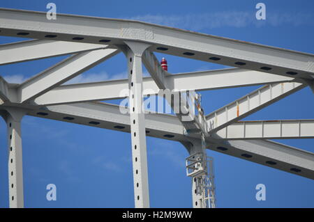 The RT 213 Bridge at Chesapeake City, Maryland - Stock Photo