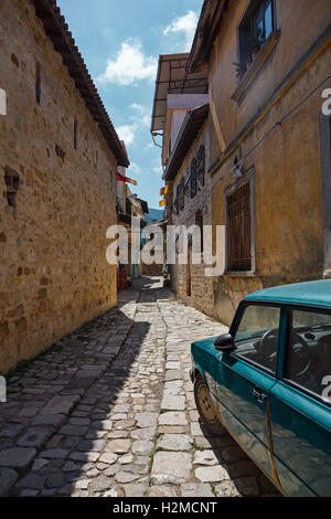 Streets in Antakya, which consists of a maze of narrow alleys lined by houses, shops, bazaars and mosques. - Stock Photo