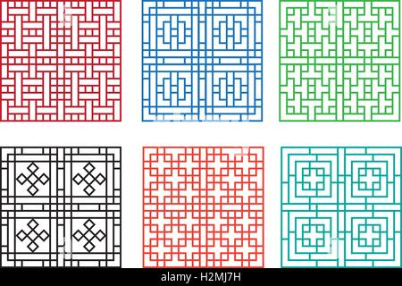 Chinese Fence Design Chinese ornament for window and floor vector design stock vector chinese ornament for door window wall and fence vector stock photo workwithnaturefo