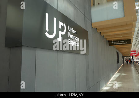 Union Pearson Express station Toronto - Stock Photo