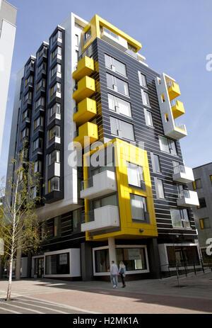 One Smithfield Square ( Apartments + retail units), Smithfield Square, Northern Quarter, Manchester, England, UK - Stock Photo