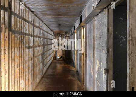 Inside of prison cells with toilet - Stock Photo