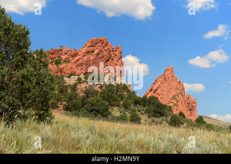 View of Garden of the Gods in Colorado Springs - Stock Photo