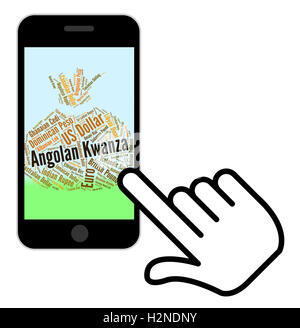 Angolan Kwanza Representing Foreign Currency And Words - Stock Photo