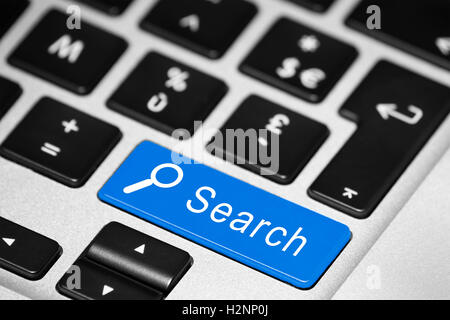 Close-up of button on keyboard - Stock Photo