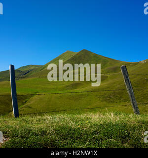 Col of Croix Morand, Chaine of Puy de Sancy, Auvergne, France, Europe - Stock Photo