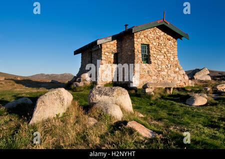 Seaman's Hut in Kosciuszko national Park. - Stock Photo