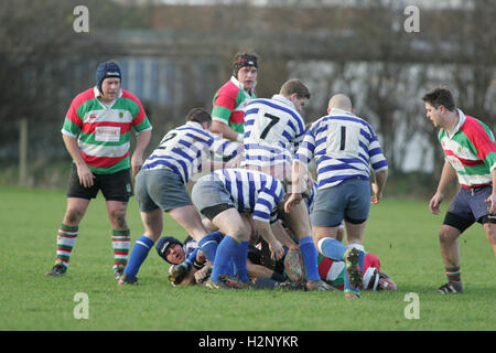 Ilford Wanderers RFC vs Wanstead RFC - Essex Rugby League- 08/01/05 - Stock Photo
