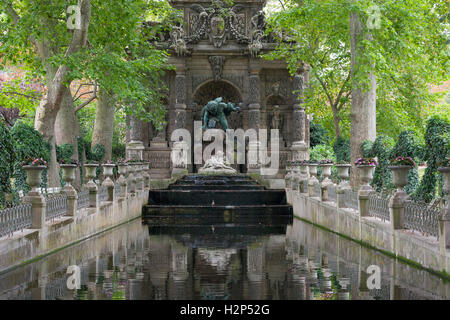 Medici Fountain in Jardin du Luxembourg, Paris, France - Stock Photo
