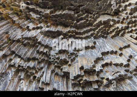 Basalt columns known as Symphony of Stones in Armenia. - Stock Photo