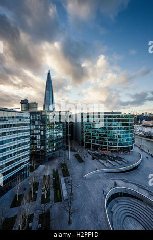 View of More London Place & The Shard from City Hall, London, England, UK - Stock Photo