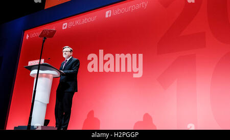 Labour Party Conference on 26/09/2016 at Liverpool ACC, Liverpool. Persons pictured: Barry Gardiner, Shadow Secretary - Stock Photo