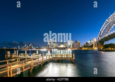 Jeffrey Street Pier, Sydney Harbour - Stock Photo
