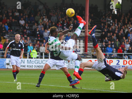 Dens Park, Dundee, Scotland. 01st Oct, 2016. Scottish Premier League Football. Dundee versus Celtic. Moussa Dembele - Stock Photo