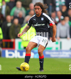 Dens Park, Dundee, Scotland. 01st Oct, 2016. Scottish Premier League Football. Dundee versus Celtic. Yordi Teijsse - Stock Photo