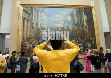 Louvre Museum, Paris, France, Europe - Stock Photo