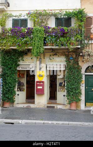 Small souvenir & postcard shop Piazza Navona, Rome - Stock Photo