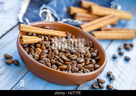 Coffee and cinnamon - Stock Photo