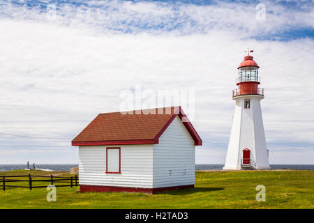 The Point Riche Lighthouse at Port au Choix, Newfoundland and Labrador, Canada. - Stock Photo