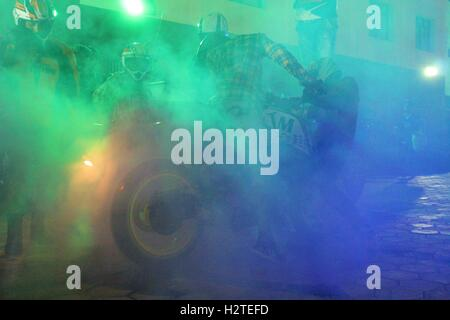 Smokey Burnout - Stock Photo
