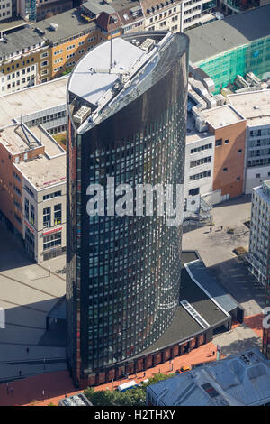 Aerial picture, RWE Tower, Dortmund, Ruhr area, North Rhine-Westphalia, Germany, Europe, aerial picture birds-eyes - Stock Photo