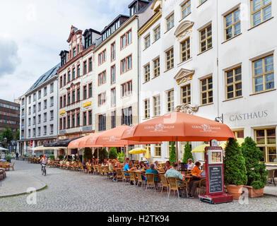 Zum Arabishchen Coffe Baum, purportedly Europe's oldest coffee shop (1711), Leine Fleischergasse, Leipzig, Saxony, - Stock Photo