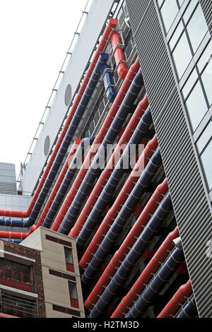 Exterior ventilation ducts on new building at Guys Hospital Cancer Centre in Southwark, South London, England, UK - Stock Photo