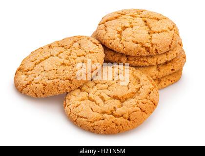 oat cookies isolated - Stock Photo