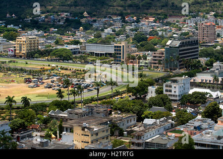 The Champ de Mars race course, view from the citadel, Port Louis, Mauritius. - Stock Photo