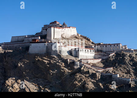 Fort, Gyangtse, Tibet, China. - Stock Photo