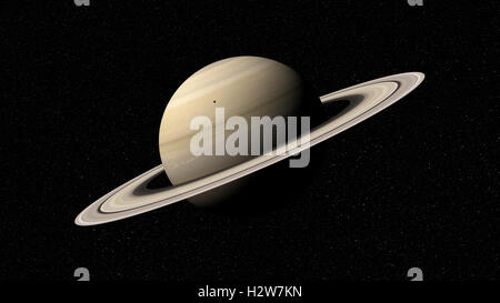 3d rendering of the planet Saturn. Elements of this image furnished by NASA - Stock Photo