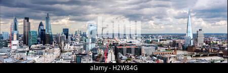 The City of London Panorama - Stock Photo