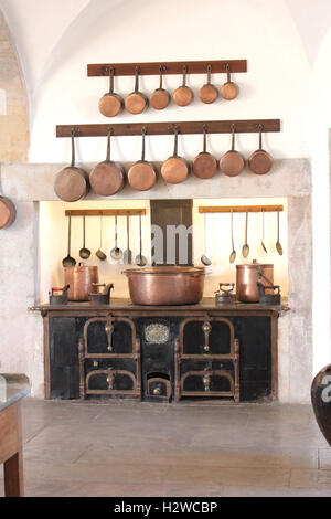 Kitchen at Pena Palace, Sintra, Portugal - Stock Photo