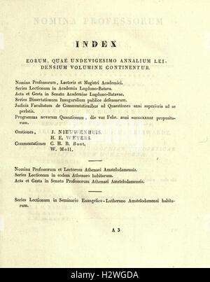 Annales Academiae Lugduno-Batavae BHL24 - Stock Photo