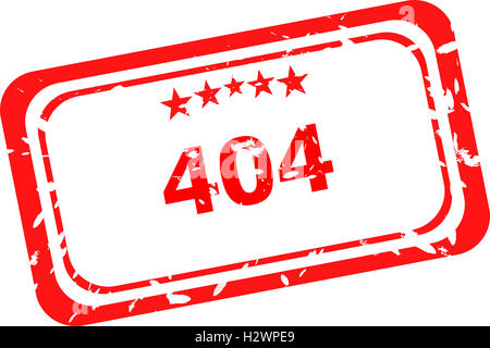404 error red Rubber Stamp over a white background - Stock Photo