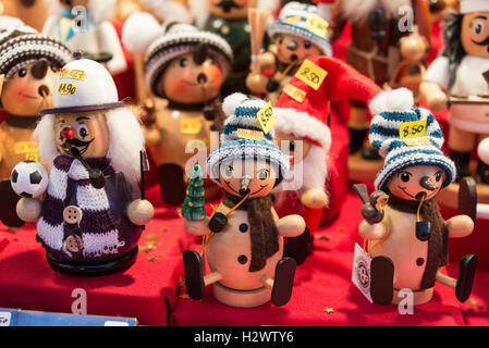 handmade wooden christmas puppets on sale at the nuremberg christmas market in nuremberg germany - German Handmade Wooden Christmas Decorations
