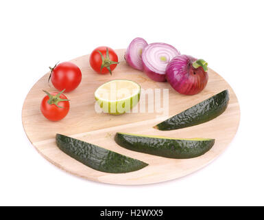 Fresh vegetables on platter. - Stock Photo