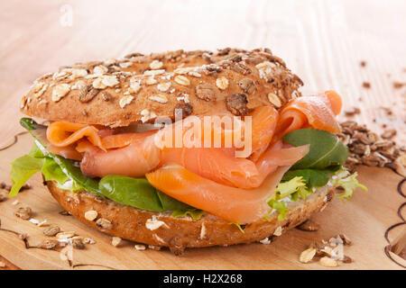 Whole grain bagel. - Stock Photo