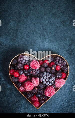 Frozen Heart Shape In Freezer Stock Photo Royalty Free Image