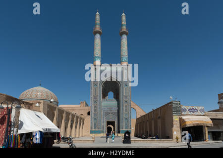 Yazd, Jāmeh Mosque of Yazd (Masjid-e-Jāmeh) In The Morning - Stock Photo