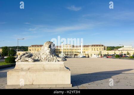 Wien, Vienna: palace chateau Schloss Schönbrunn, 13., Wien, Austria - Stock Photo
