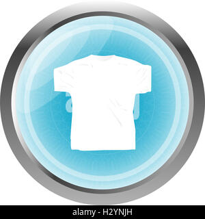 Clothes for women or man. T-shirt icon isolated on white - Stock Photo